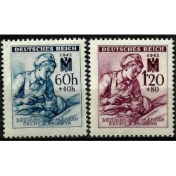 (B13-B14) Bohemia y Moravia (Ocupación Alemana). 1942. Serie Completa. Cruz Roja Germana (Nuevo)