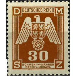 (O13) Bohemia y Moravia (Ocupación Alemana). 1943. 30 Harelu. Escudo (Nuevo)