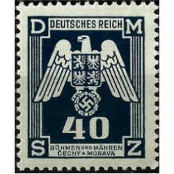 (O14) Bohemia y Moravia (Ocupación Alemana). 1943. 40 Harelu. Escudo (Nuevo)