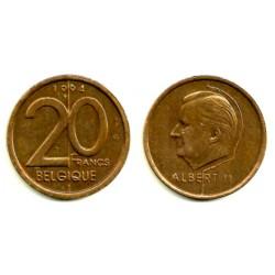(191) Bélgica. 1994. 20 Francs (MBC)