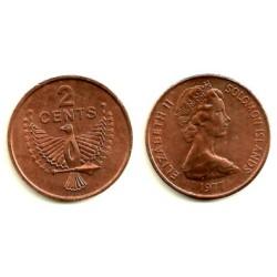 (2) Islas Salomón. 1977. 2 Cents (SC)