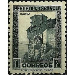 (770) 1938. 1 Peseta. Monumentos y autogiro. Cuenca (Nuevo)