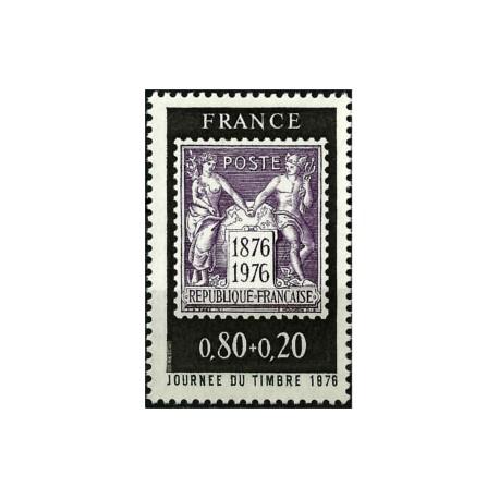 (B489) Francia. 1976. 0,80 + 0,20 Francs. Día del Sello (Nuevo)