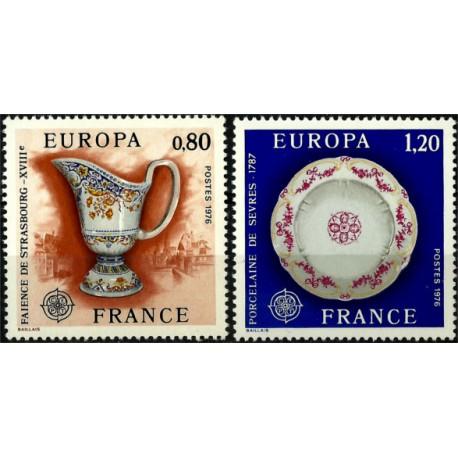 (1478-1479) Francia. 1976. Serie Completa. EUROPA (Nuevo)