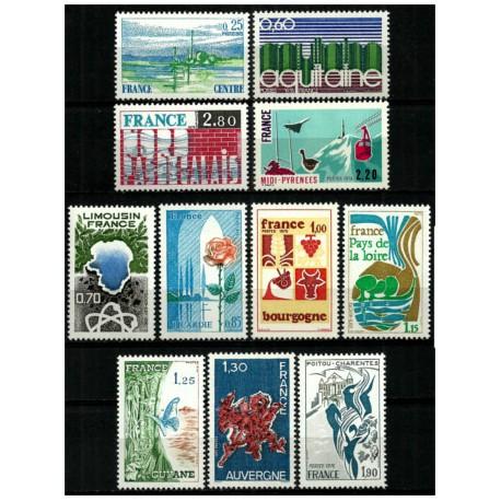 (1440 a 1450) Francia. 1975-76. Serie Completa (Nuevo)