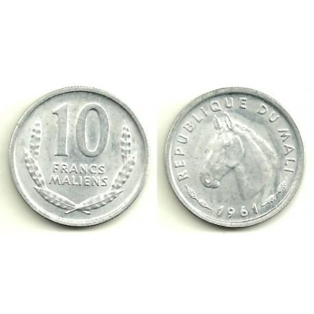 (3) Mali. 1961. 10 Francs (EBC+)