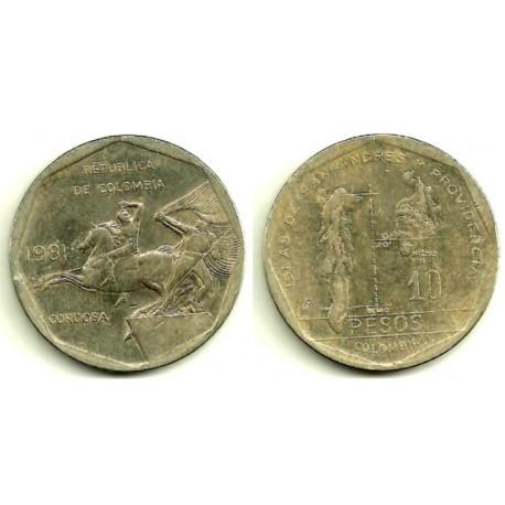 (270) Colombia. 1981. 10 Pesos (MBC)