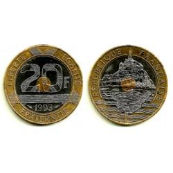 (1008.1) Francia. 1993. 20 Francs (MBC+)