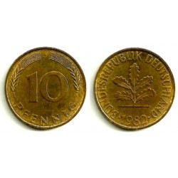 (103) Alemania. 1982(J). 10 Pfennig (MBC)