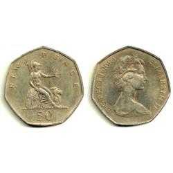 (913) Gran Bretaña. 1969. 50 Pence (MBC-)