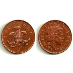 (987) Gran Bretaña. 1999. 2 Pence (MBC)
