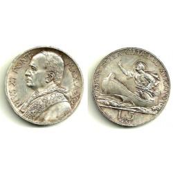 (7) Ciudad del Vaticano. 1931. 5 Lira (EBC) (Plata)