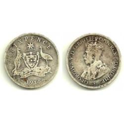 (25) Australia. 1914. 6 Pence (BC) (Plata)