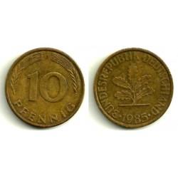 (108) Alemania. 1985(D). 10 Pfennig (MBC)