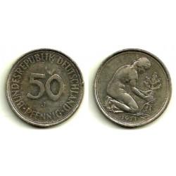 (109.1) Alemania. 1971(J). 50 Pfennig (MBC)