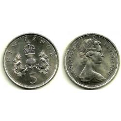 (911) Gran Bretaña. 1971. 5 Pence (EBC)