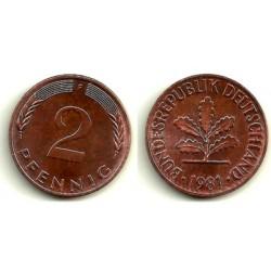 (106a) Alemania. 1981(F). 2 Pfennig (EBC)