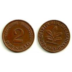(106a). Alemania. 1963(J). 2 Pfennig (EBC)