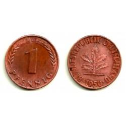 (105) Alemania. 1950(D). 1 Pfennig (MBC)