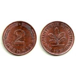 (106a) Alemania. 1978(D). 2 Pfennig (MBC)