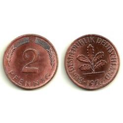 (106a) Alemania. 1976(G). 2 Pfennig (MBC+)