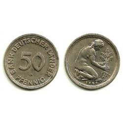 (109.1) Alemania. 1949(G). 50 Pfennig (MBC)