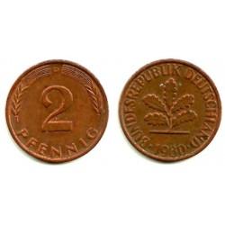 (106a) Alemania. 1980(D). 2 Pfennig (MBC)