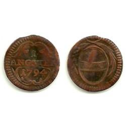 (61) Suiza (Cantón de Zug). 1794. 1 Angster (MBC)