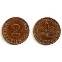 (106a) Alemania. 1974(D). 2 Pfennig (MBC)
