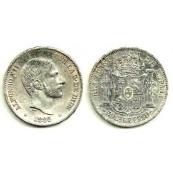 Alfonso XII. 1885. 50 Centavos (EBC) (Plata) Ceca de Manila
