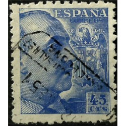 (926) 1940-45. 45 Céntimos. General Franco (Usado)