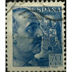 (874) 1939. 70 Céntimos. General Franco (Usado)