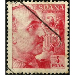 (933) 1940-45. 4 Pesetas. General Franco (Usado)