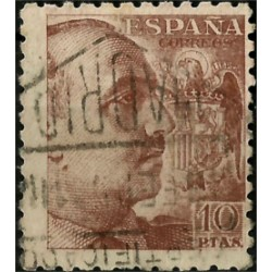 (935) 1940-45. 10 Pesetas. General Franco (Usado)