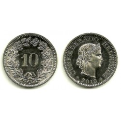 Suiza. 2010. 10 Rappen (EBC)