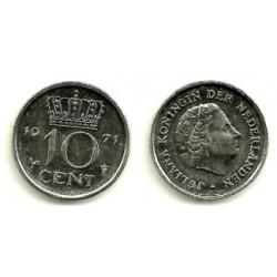 (182) Paises Bajos. 1971. 10 Cents (MBC)