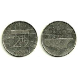 (206) Países Bajos. 1986. 2½ Gulden (BC)