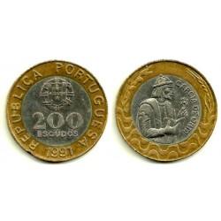 (655) Portugal. 1991. 200 Escudos (MBC)