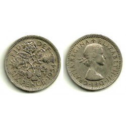 (903) Gran Bretaña. 1954. 6 Pence (MBC+)