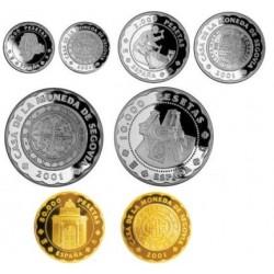 [2001] Colección Completa en Plata y Oro (Proof)