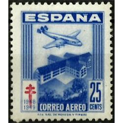 (1043) 1948. 25 Céntimos. Pro Tuberculosos (Nuevo)