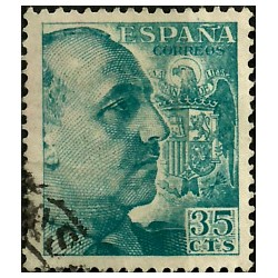 (1050) 1949-53. 35 Céntimos. General Franco (Usado)