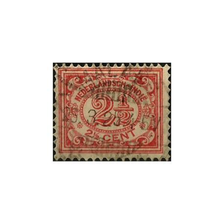 (106) Indias Holandesas. 1912-40. 2½ Cents. Cifras (Usado)