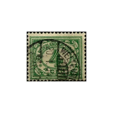 (110) Indias Holandesas. 1912-40. 4 Cents. Cifras (Usado)