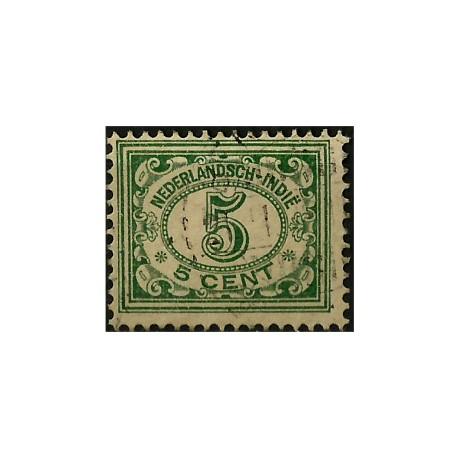 (113) Indias Holandesas. 1912-40. 5 Cents. Cifras (Usado)