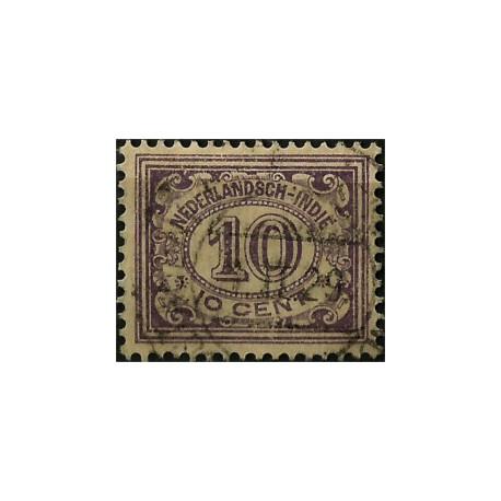 (116) Indias Holandesas. 1912-40. 10 Cents. Cifras (Usado)