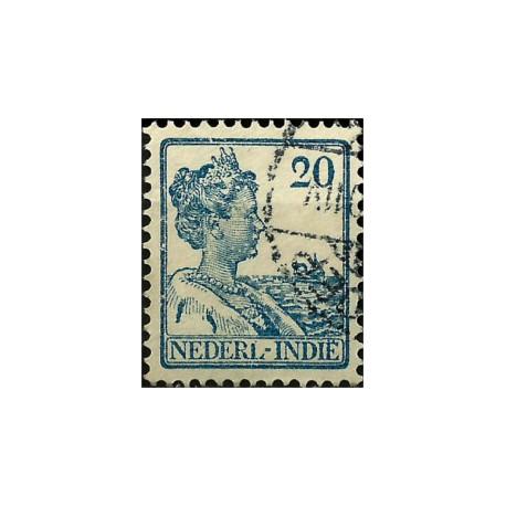 (123) Indias Holandesas. 1912-40. 20 Cents. Wilhelmina (Usado)