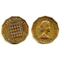 (900) Gran Bretaña. 1960. 3 Pence (EBC)