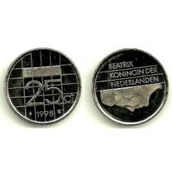 (204) Países Bajos. 1998. 25 Cents (SC)