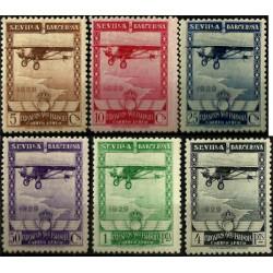 (448 a 453) 1929. Serie Completa. Pro Exposiciones de Sevilla y Barcelona (Nuevo)